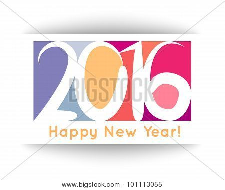 Happy New Year 2016 banner. Vector illustration for holiday