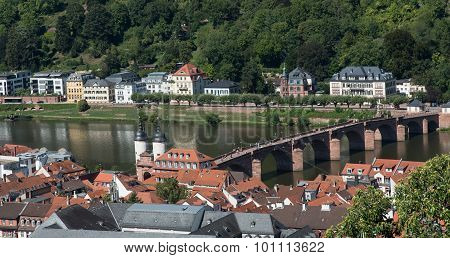 Cityscape  Of Heidelberg In Germany