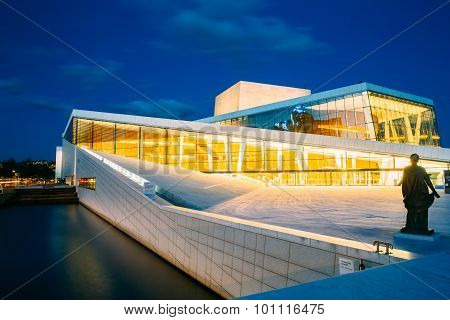 Exterior of White Building of The Oslo Opera House Is The Home O