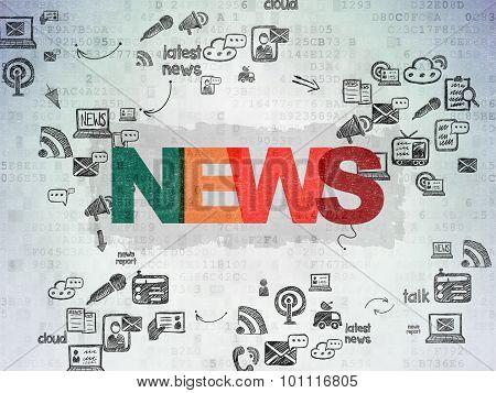 News concept: News on Digital Paper background