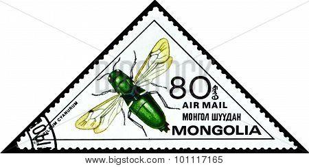 Vintage  Postage Stamp. Stilbum Cianurum.