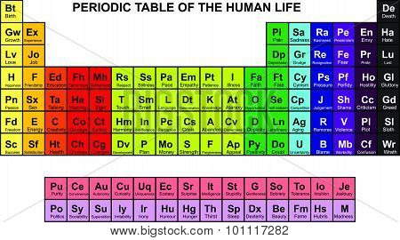 periodic table of  human life