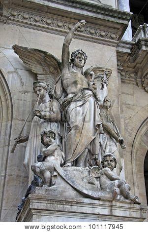 Architectural Details Of Opera National De Paris - Grand Opera (garnier Palace), Paris, France