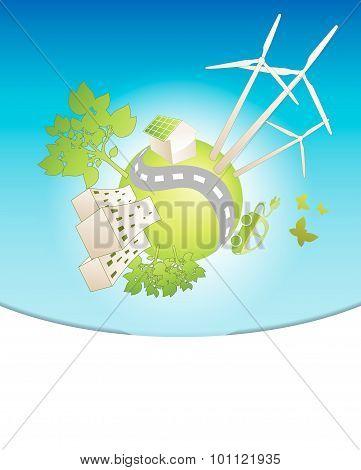 Eco Planet Background