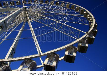 A Ferris Wheel In Paris, France