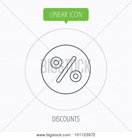 Discount percent icon. Sale sign.