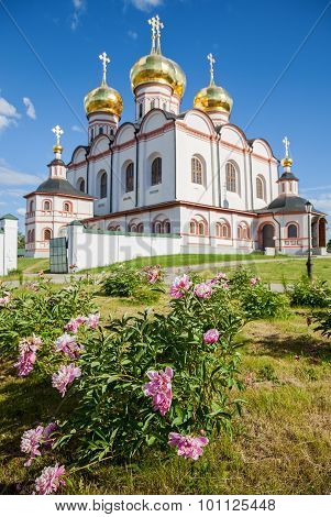 Decorative Flowers On The Background Cathedral Of The Assumption Of The Blessed Virgin Mary In The I
