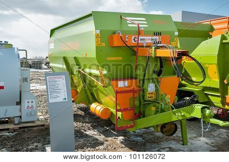 Agriculture equipment on exhibition. Tyumen