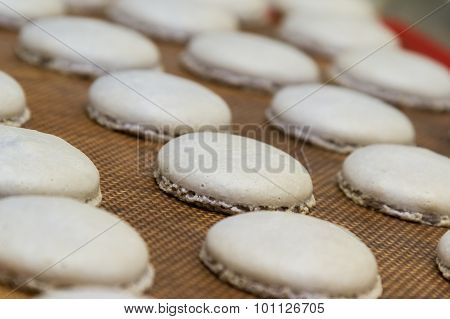 Preparing French Macaroons
