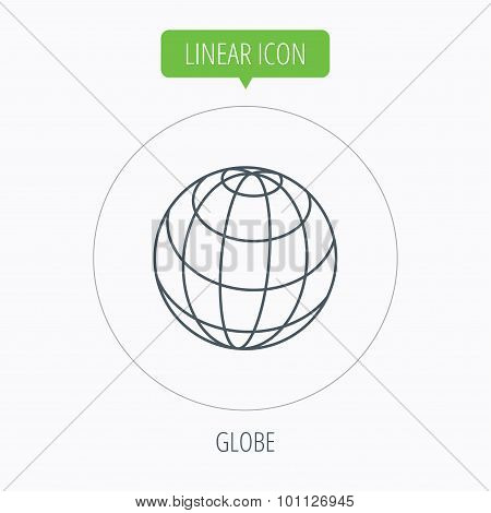 Globe icon. World travel sign.