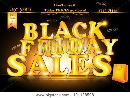 Black Friday Sales advertising poster.