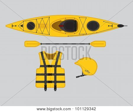 Yellow Flat Rafting Set