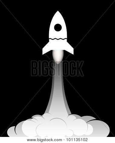 Rocket launch icon.