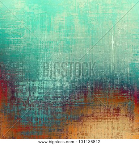 Old, grunge background texture. With different color patterns: yellow (beige); blue; green; red (orange)