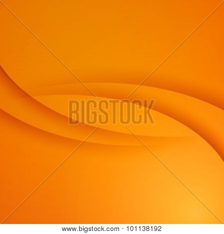 Orange vector Abstract background with curves lines