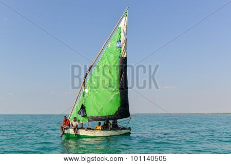 Sailing, Magaruque Island - Mozambique