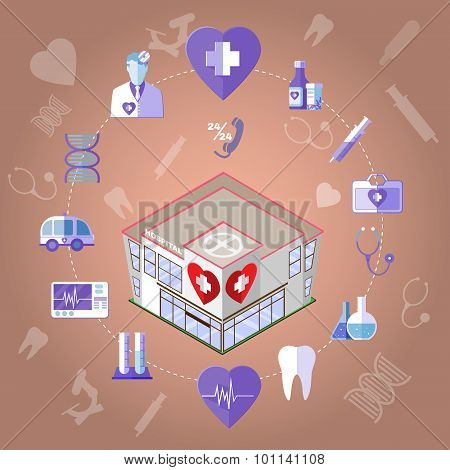 Healthcare Infographics Icons Set.