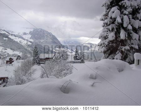 Snowscape In Emmetten, Switzerland
