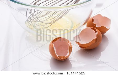 Egg Shells White And Whisk