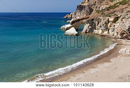Gerontas beach, Milos island, Cyclades, Greece