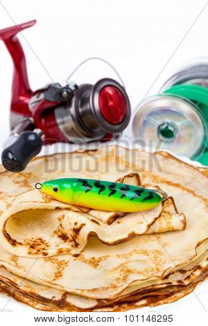 Fishing Tackles With Pancakes