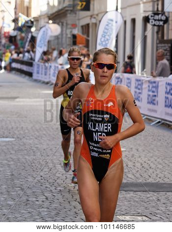 Triathlete Rachel Klamer Running
