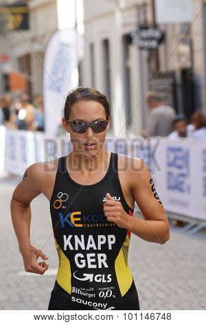 Close-up Of Triathlete Anja Knapp Running