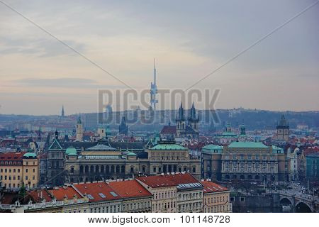 views of the major sights of Prague
