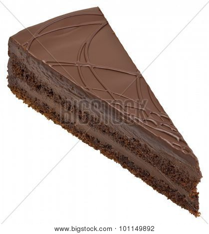 Chocolate Cake Slice Portion Cutout