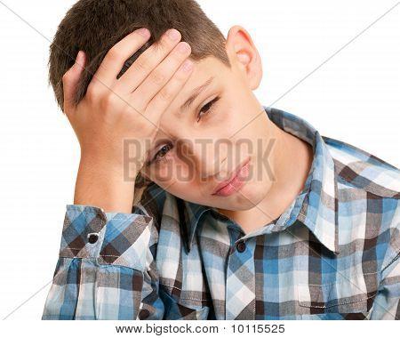 Kid Sturving From Headache