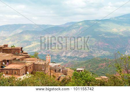 Village in High Atlas mountains, Morocco (between Marrakesh and Tizi-n-Tichka pass)
