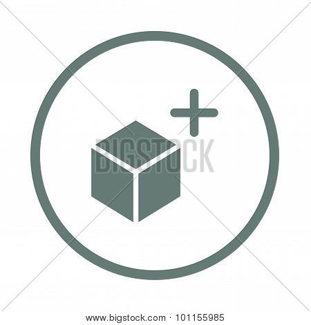 Lightbox Concept Icon. Stock Illustration Flat Design Box And Plus Sign Icon.