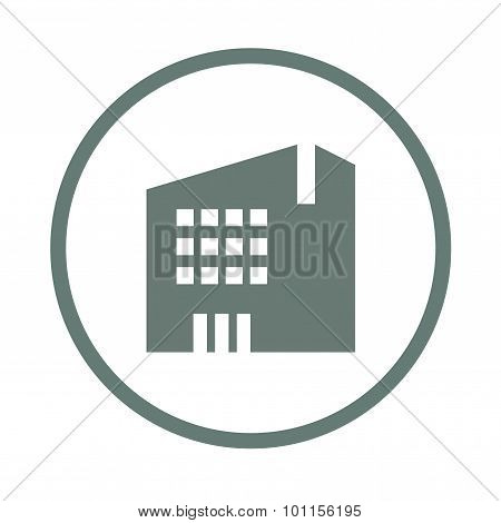 Mid-sized Building Concept Icon. Building Concept Icon. Stock Illustration Flat Design Icon.