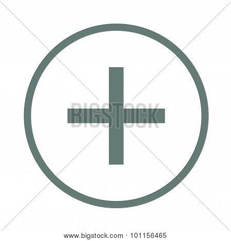 Plus Sign - Button - Plus Sign Icon. Positive Symbol.