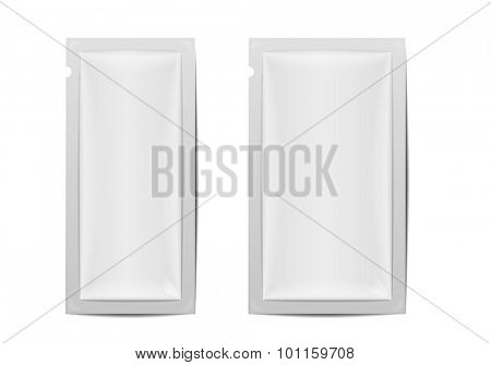 detailed illustration of two blank foil packaging templates, eps10 vector