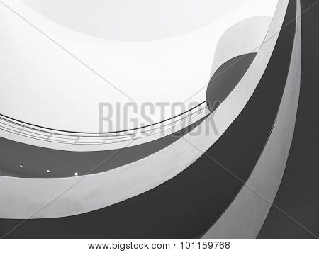 Spiral Slope Architecture details Black And White