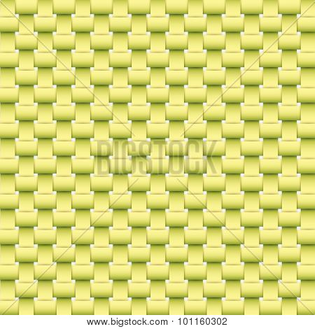 Green Weave Texture And Background Vector