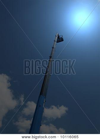 Magic Light, High Long Industrial Crane Arm