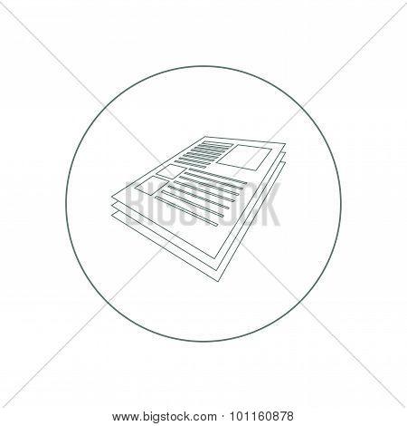 Scientific Articles  -  Stock Illustration