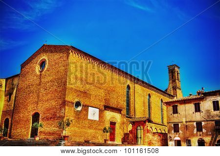Sant'agostino Church In San Gimignano