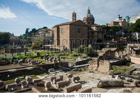 Street of Rome. Forum