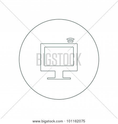 Information Technology - Button - This Image Is A Vector File Representing A Computer Monitor Displa