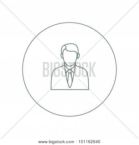 Well Dressed Person Avatar Concept Icon. Stock Illustration Flat Design Icon.