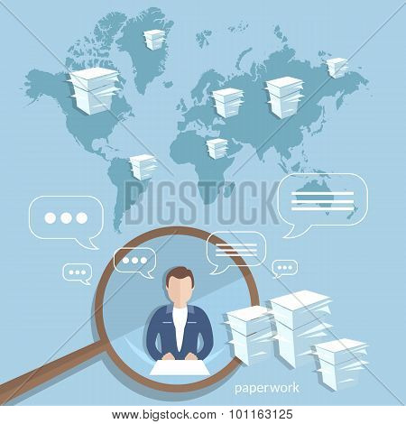 Global Corporate Training Concept Businessman