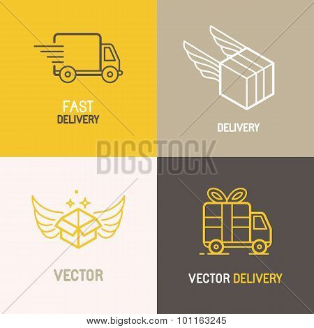Vector Express Delivery Service Logo