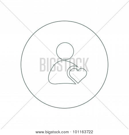 User Friendly - Button - Business Man Icon, Stock Illustration Icon.