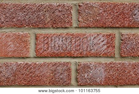 Coarse Red Brick Wall Background