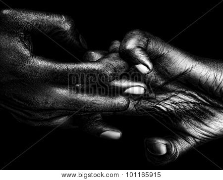 Beautiful Graphic Image of a womans hands