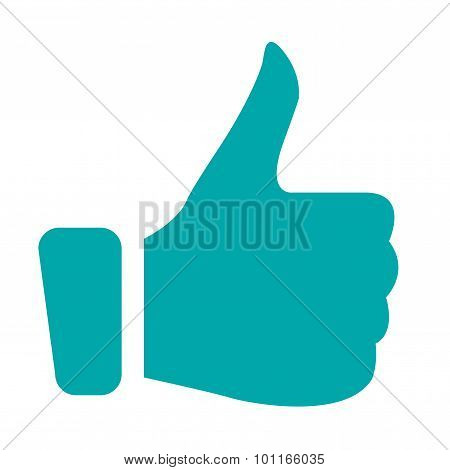 Illustration Of Positive Feedback With Thumbs Up Icon.
