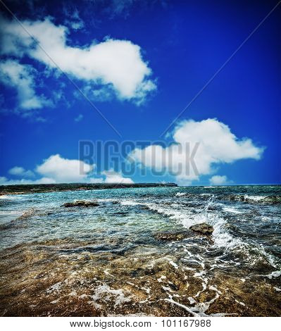 Foreshore Under Clouds In Hdr